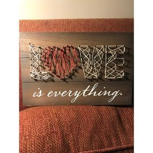 Other - Brand New Love is Everything String Art Sign